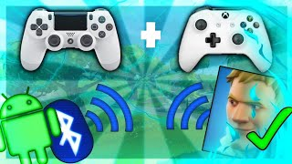 PLAY WITH A MANETTE OF [PS4] [XBOX] FREE ON FORTNITE MOBILE!