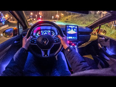 New RENAULT CLIO 5 (2020) - NIGHT POV Test Drive (crazy Ambient Lights) TCe 100 RS Line In 4K