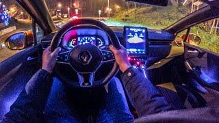 Новый Renault CLIO (2020) - тест-драйв Night POV (сумасшедшее окружающее освещение) RS...