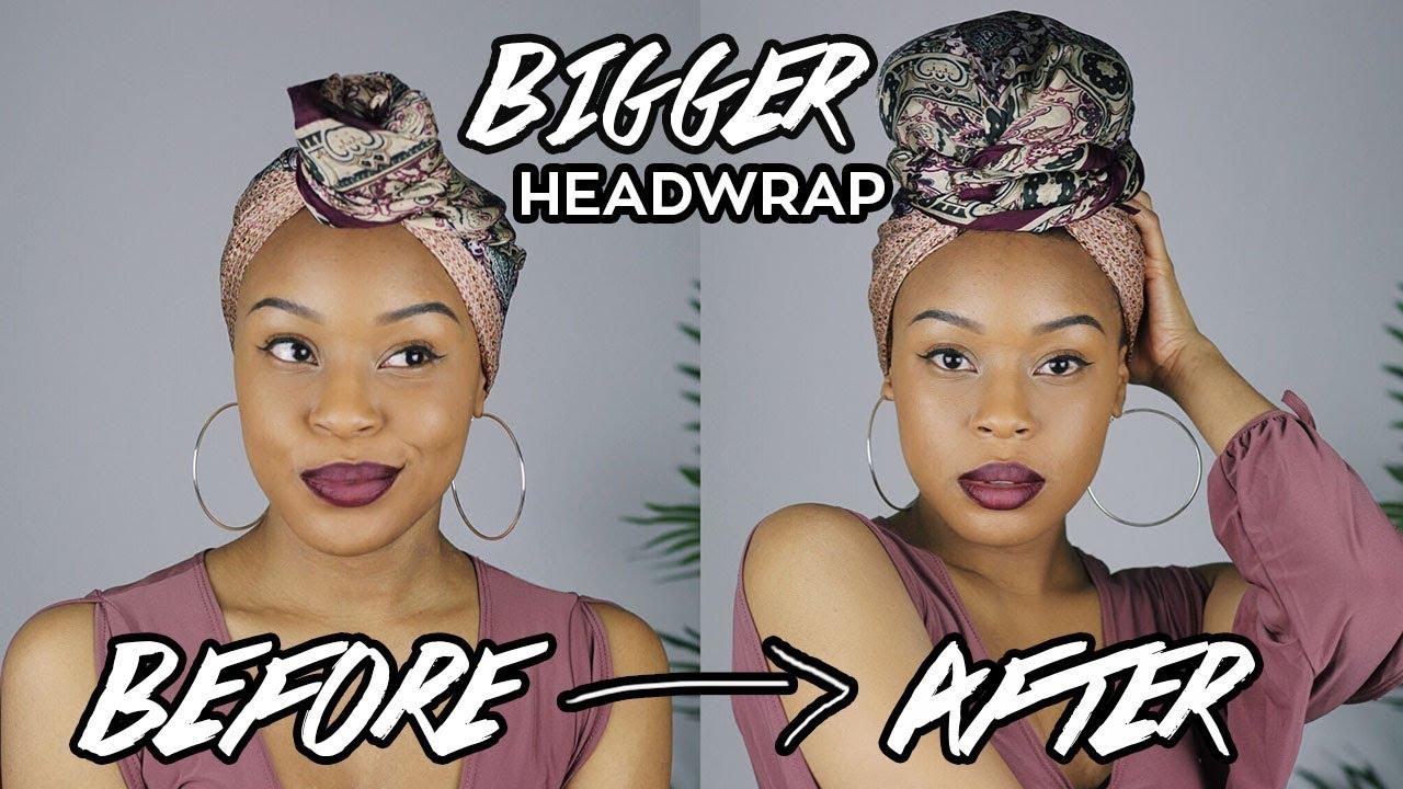 How To Bigger Headwrap Turban Short Hair Twa Friendly Youtube