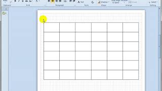 6.1 Quickly Copying Shapes to Make a Matrix in Visio 2010