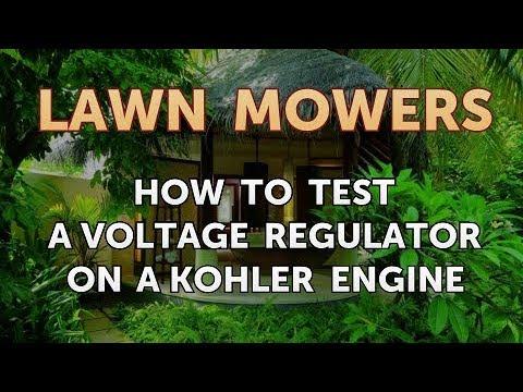 How To Test A Voltage Regulator On Kohler Engine