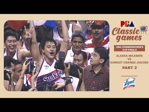 PBA Classic Games: 1995 Commissioner's Cup Finals | Alaska vs. Sunkist | Sept. 5 1995 (PART 2)