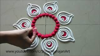 Innovative and Creative Rangoli Designs Using Bangles| Easy Rangoli by Shital Mahajan.