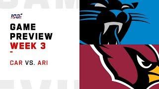 Carolina Panthers vs. Arizona Cardinals Week 3 NFL Game Preview
