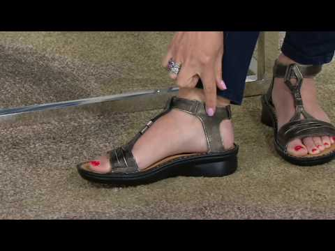 cc303327eb5 Naot Leather Gladiator Sandals - Cymbal on QVC