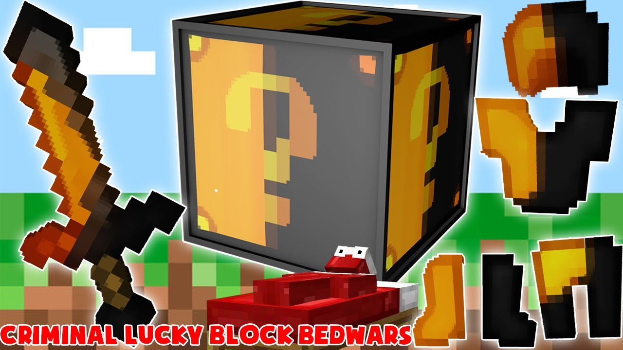 MINI GAME : CRIMINAL LUCKY BLOCK BEDWARS ** THỬ THÁCH CHIẾN THẮNG PRO BEDWARS TRONG MINECRAFT ??
