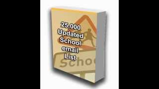 School email address lists
