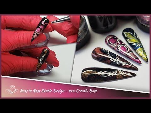 Nass in Nass Studio Design | new Creative Base | Cateye Pigmente | Schnörkel