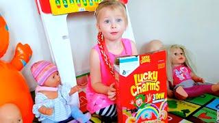 Куклы и Эльвира Беби Борн Катя Учат английский язык с шариками