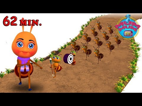 Nursery Rhymes Songs for Kids-Children | The Ants Go Marching One By One Song |MUM MUM TV