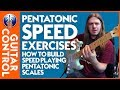 How to Build Speed Playing Pentatonic Scales - Lead Guitar Lesson on Pentatonic Scales