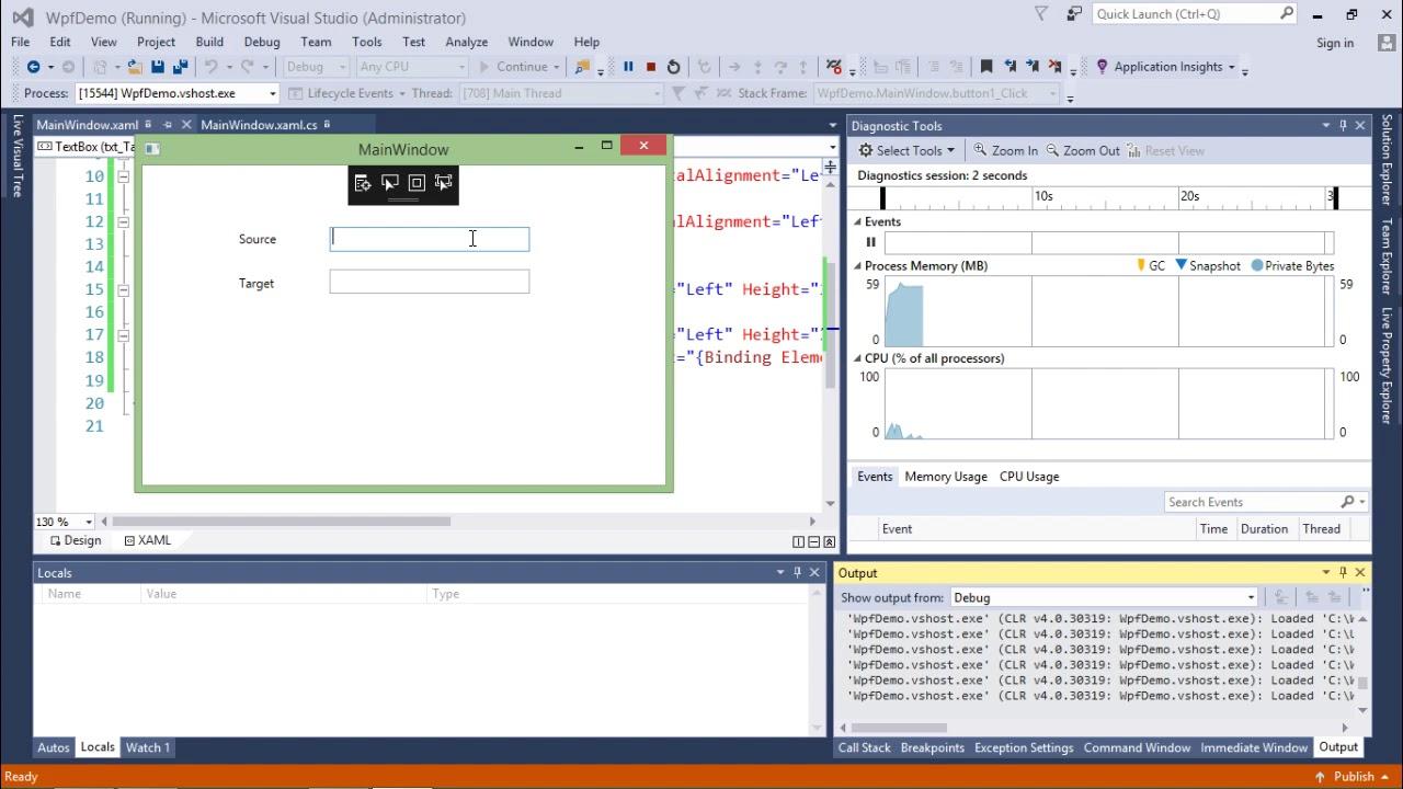 WPF - One Way Data Binding