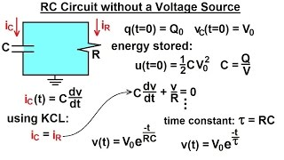 Electrical Engineering: Ch 8: RC & RL Circuits (2 of 43) RC Circuit without Voltage Source