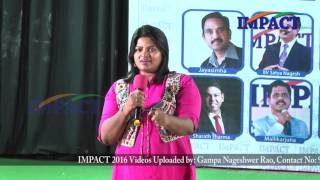 Importance of Mental & Physical Health by Jessy Naidu IMPACT Hyderabad 2016