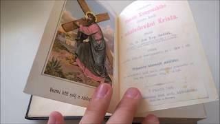 Staré náboženské knihy (Old religious books) - Unboxing (nejstarší z roku 1860)