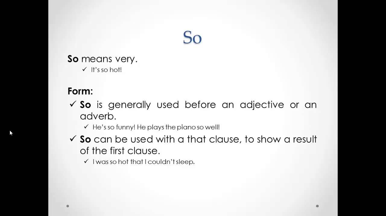Intensifiers (ESL grammar topic)