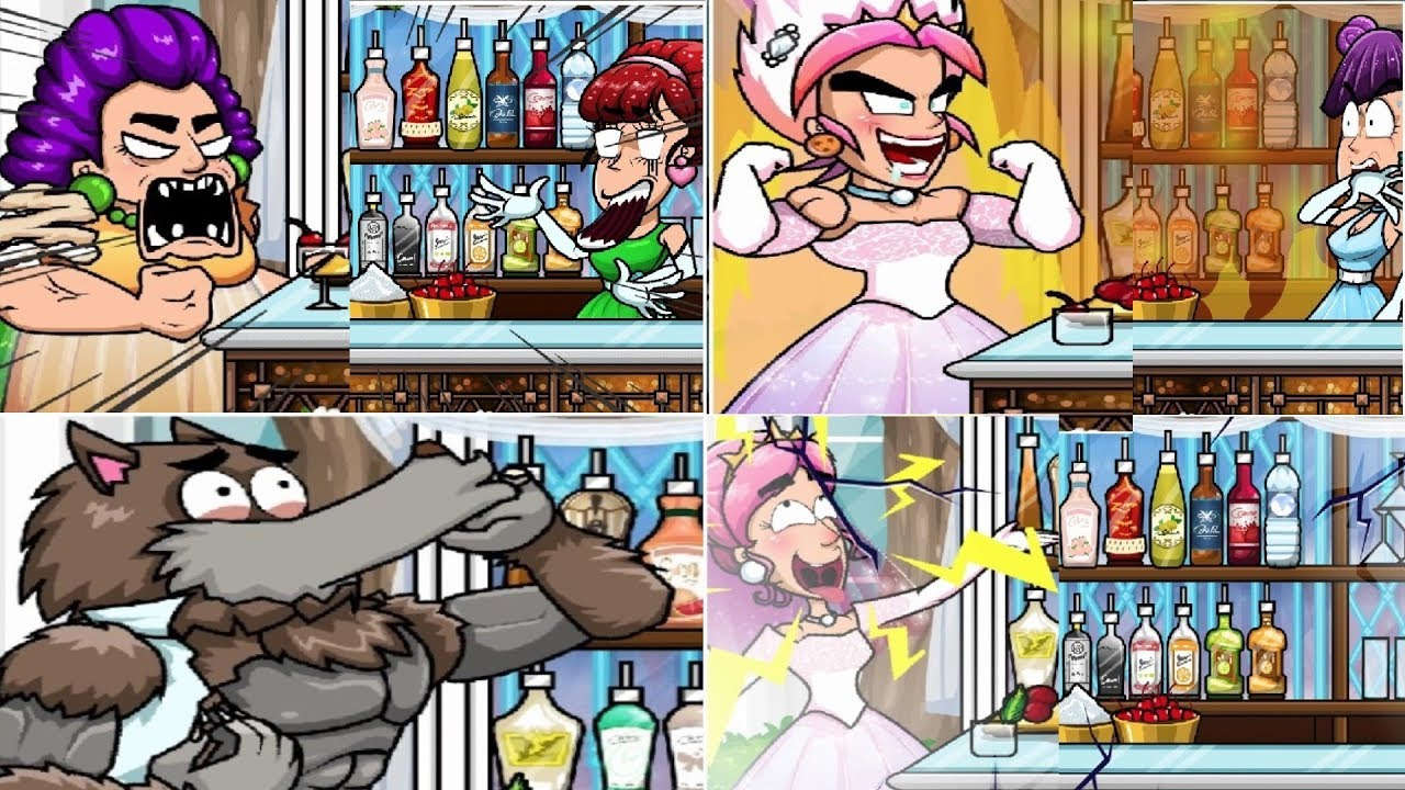 Bartender The Wedding Y8 – All 18 Endings Game, All Reactions, All recipes (Crazy Game)