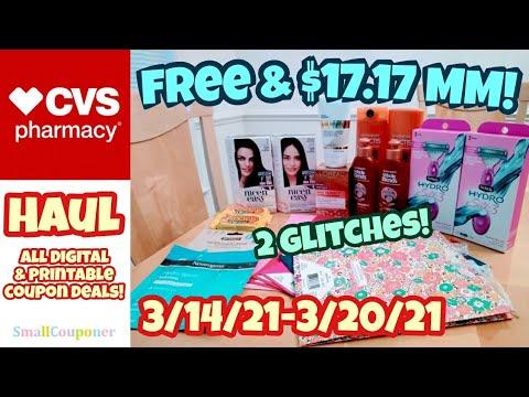 CVS Haul 3/14/21-3/20/21! Glitches! Freebies! All Digital and Printable Coupon Deals!