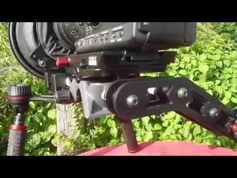 Neues Schulterstativ / Rigg Sympla für Video und DSLR-Kameras. Hier mit der Canon XH-A1