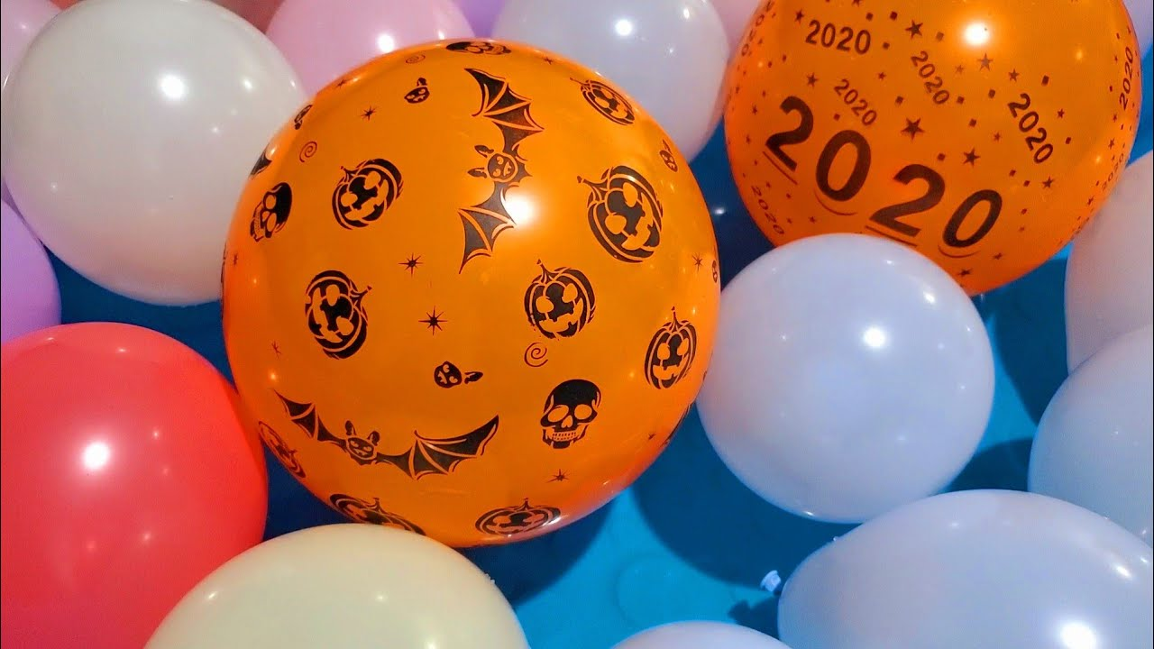 FUN 2020 HALLOWEEN BALLOONS POP ON WATER!!!