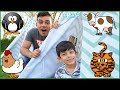 Funny Chicken in the Tent, Learn Animals with Pretend Play Sounds