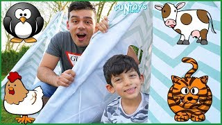 Funny Chicken in the Tent, Learn Animals with Play Sounds