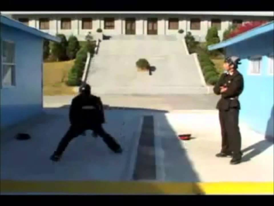 North Korea vs South Korea soldiers B boys fight - YouTube