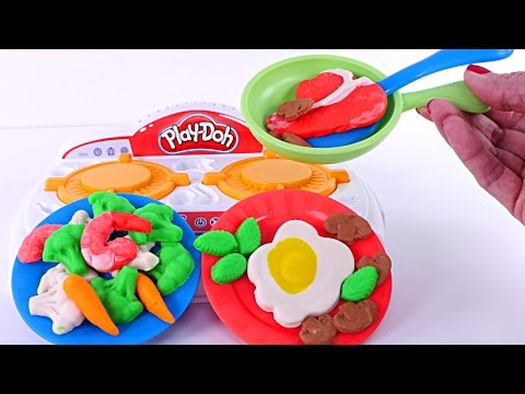 Thumbnail: Play Doh Kitchen Creations Sizzlin' Stove Top Playdough Food New 2017 Toys