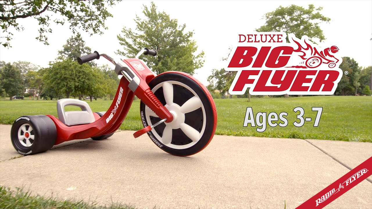 """Radio Flyer Red 16/"""" Front Wheel Big Flyer Sport Chopper Tricycle"""