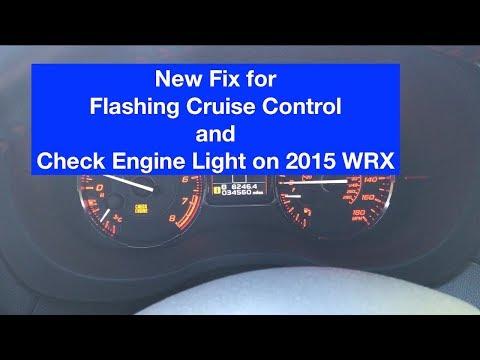 Check Engine Light Flashing >> Subaru Wrx Error Code P0171 P0172 Flashing Cruise Control And Check