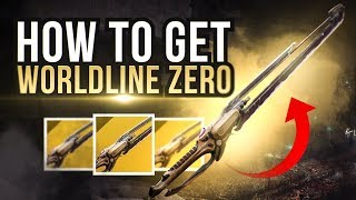 How To Get Worldline Zero Exotic Sword! Destiny 2 Warmind Exotic Guide