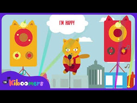 I'm HAPPY   Music for Kids   I'm H-A-P-P-Y Song Lyrics   The Kiboomers