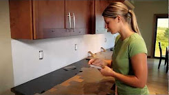Metal Backsplash Tile Installation