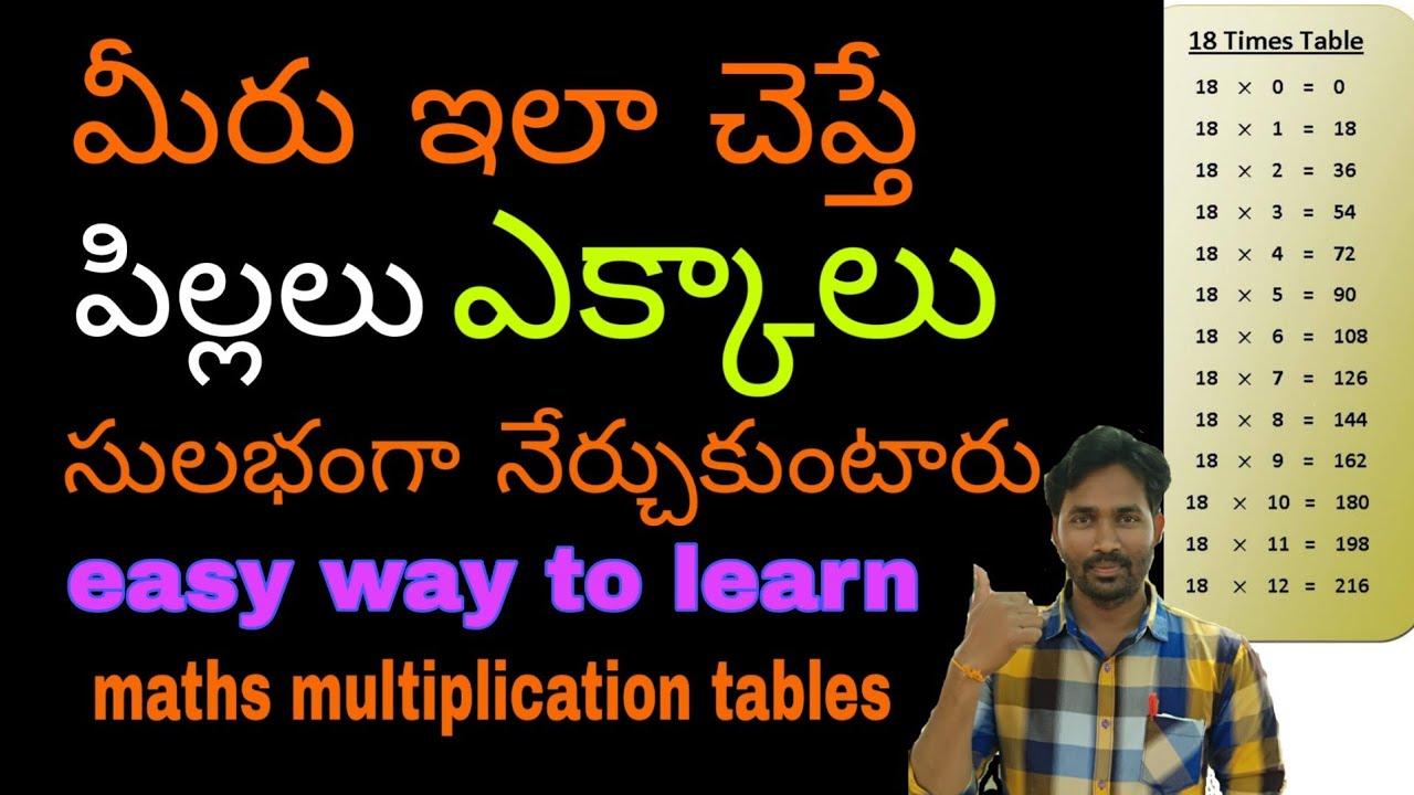 Download How to learn maths tables easily    learn ekkaalu easily in telugu