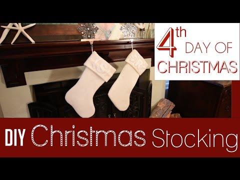 DIY Felt Monogrammed Stockings   4th Day of 25 Days of Christmas!