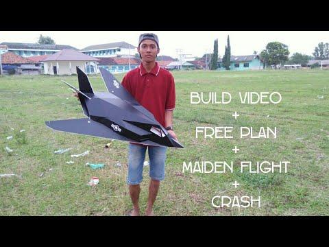 membuat pesawat RC Siluman F117 STEALTH DEPRON Build Video