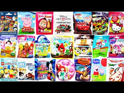 50 Surprise Blind Bags Angry Birds Lego Disney Peppa Pig Disney Infinity Cars 2 Hello Kitty Toys