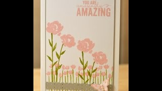 Painted Petals Field of flowers - JanB UK Stampin