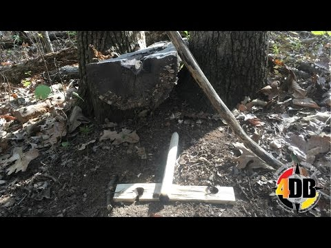 Primitive Fire Skills | One Handed Bow Drill Friction Fire
