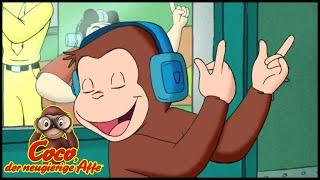 Coco der Neugierige Affe Deutsch🐵Im Radiosender 🐵Ganze Folgen 🐵Cartoons für Kinder🐵Staffel 6