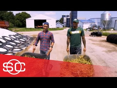 Green Bay Packers' Jaire Alexander spends day as a dairy farmer | Hang Time with Sam Alipour | ESPN