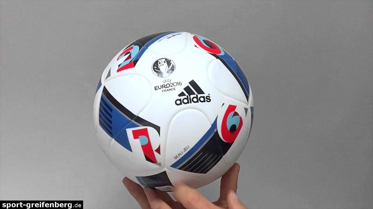 Adidas Beau Jeu Top Replique Ball (Euro 2016) - Trainingsball - YouTube 4e0771ed93f42