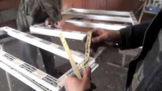 Установка фурнитуры для металлопластиковых окон.Часть 1 видеоурок