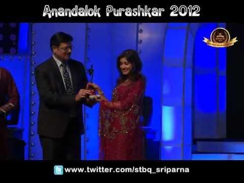Sriparna Roy got Anandalok Purashkar 2012 for Best Female Actress of  TV Serial.
