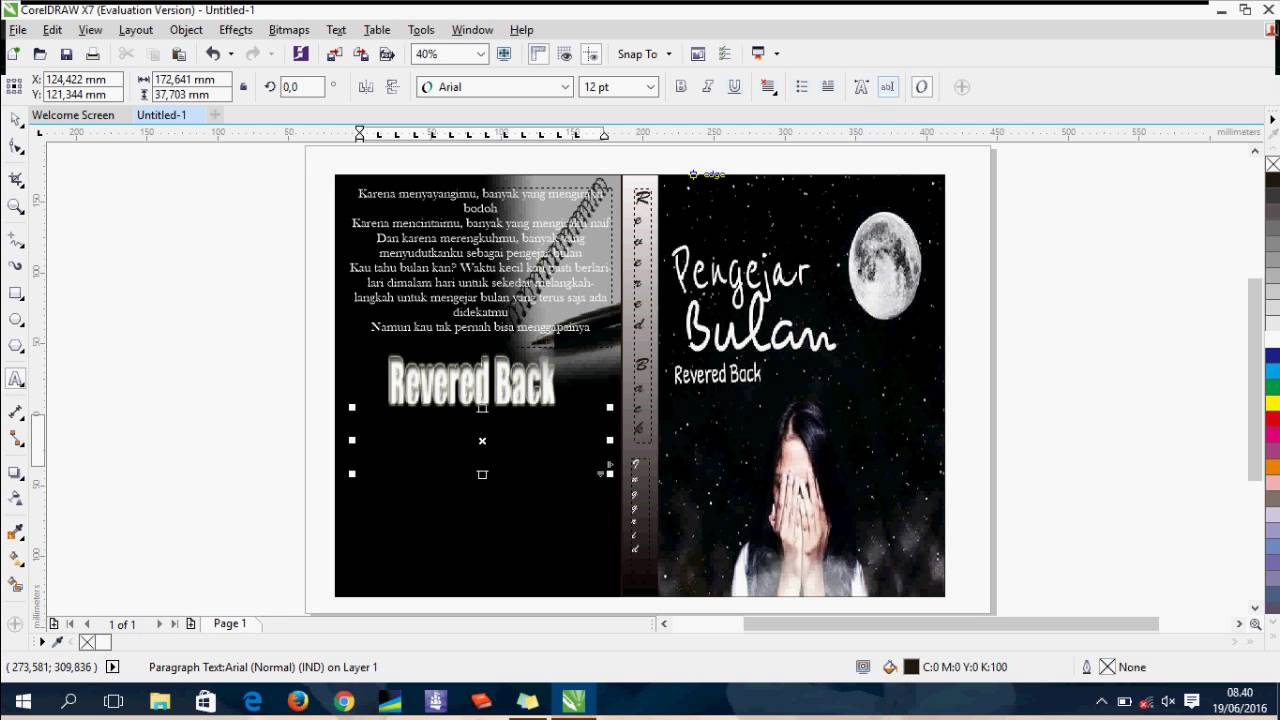 Nhs Red Book Cover Tutorial ~ Video tutorial how to make quot cover book using coreldraw