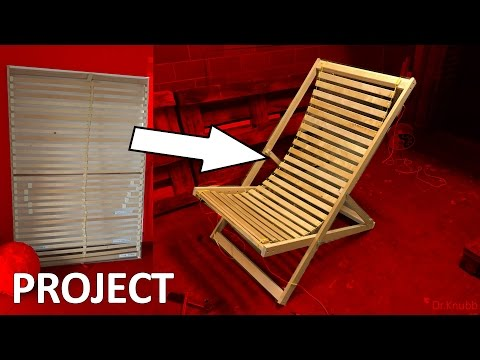How to build a folding chair with 0$