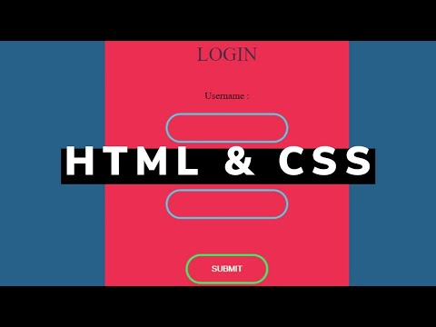 Cool Animated Login Form Using Only HTML And CSS | Code Included