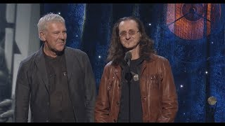 Alex Lifeson & Geddy Lee of Rush Induct Yes into the Rock & Roll Hall of Fame - 2017