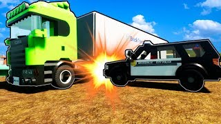LEGO TRUCKERS RUN FROM LEGO COPS?! (Brick Rigs Gameplay Roleplay) Lego Trucks & Lego Jobs!